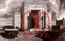 ソロモン宮殿の二つの柱